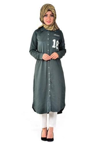 - Allday Tunik Gömlek Neft Yeşili-50717
