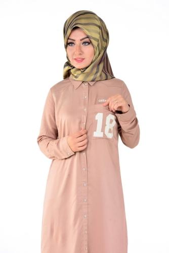 - Allday Tunik Gömlek Pudra-50717 (1)