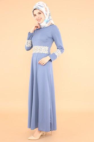 Modaebva - Bel Ve Kol Güpür İnci Detay Elbise-3549Bebemavisi (1)