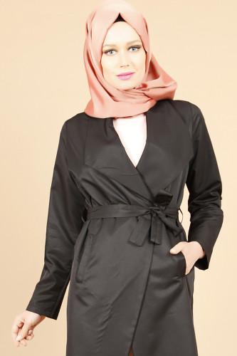 - Belden Bağlamalı Kimono-Siyah0522 (1)