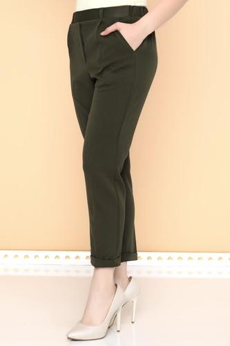 - Beli Lastikli Bilek üstü Pantolon-2005 Haki yeşili (1)