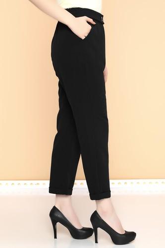 - Beli Lastikli Cepli Havuç Pantolon-0062 Siyah (1)
