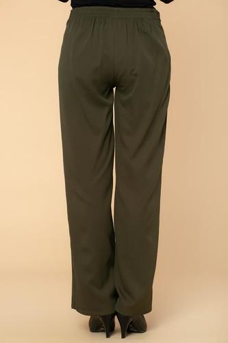 Beli Lastikli Cepli Pantolon-2038 Hakiyeşil - Thumbnail