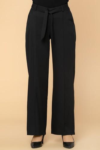 Modaebva - Beli Lastikli Cepli Pantolon-2038 Siyah