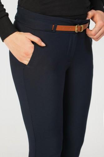 - Bilek Boy Kemerli Cepli pantolon-3030 Lacivert (1)