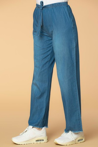 Modaebva - Bol Paça kot pantolon-7258 Mavi (1)