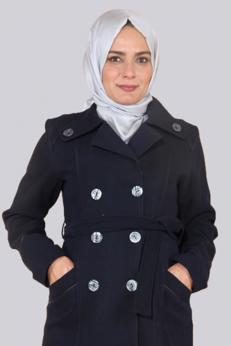- Ceket Yaka Çift Düğmeli Kaban-Laci0591 (1)