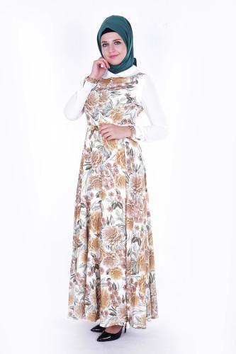 - Çiçek Desen Elbise-315