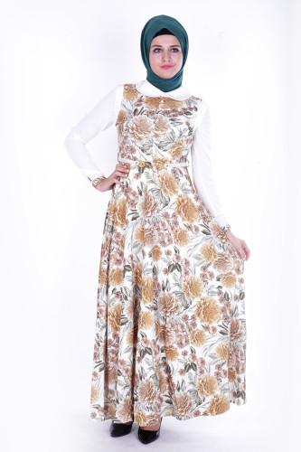 - Çiçek Desen Elbise-315 (1)