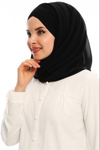 Modaebva - Hazır Bone şal-E60Siyah