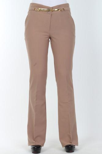 - İspanyol Paça pantolon-0532kahve
