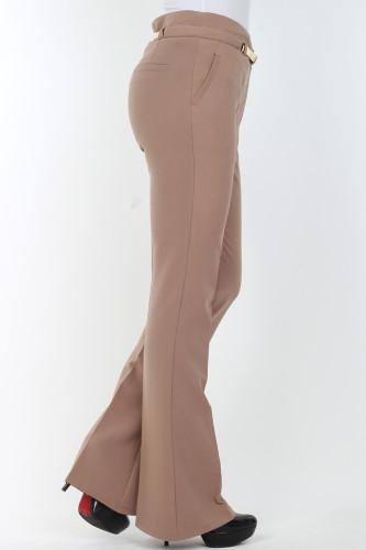 - İspanyol Paça pantolon-0532kahve (1)