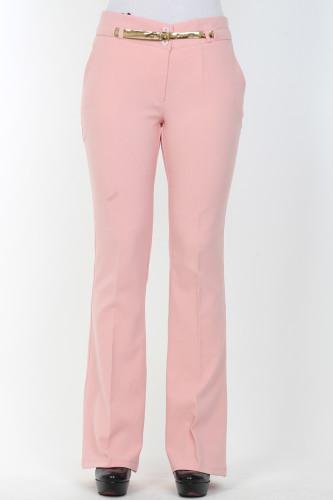 - İspanyol Paça pantolon-0532Pudra