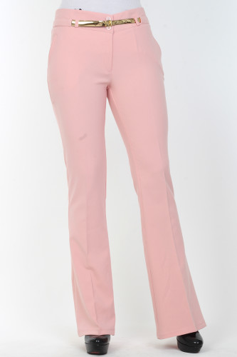- İspanyol Paça pantolon-0532Pudra (1)