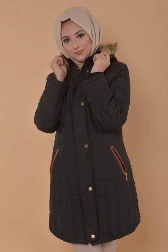 - Kapşonlu Şişme Mont-Siyah 5096 (1)
