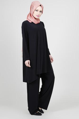 - Sandy Pantolonlu Takım -Siyah0521