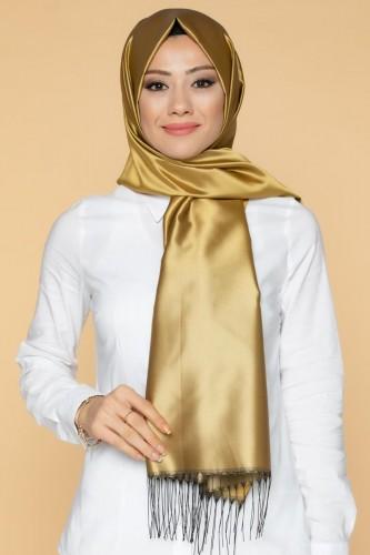 Modaebva - Senem Tafta Şal-1140 Gold